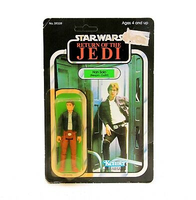 Vintage Kenner Star Wars ROTJ Return of the Jedi Han Solo Bespin Outfit 65 Back