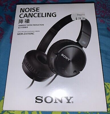 Sony MDR-ZX110 Wired On-Ear Stereo Headphones - Black Brand New Sealed In Box