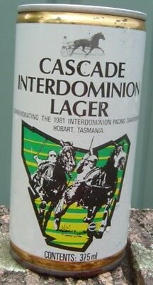 Cascade Interdominion Lager Steel Can  375ml is Empty Can Bottom Opened Nice