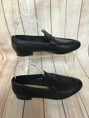 M&S Shoes UK 6 Black Leather Slip On Loafer Comfort NEW RRP £39.50 Driving shoe