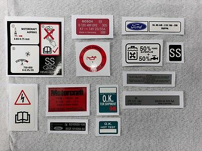 Ford Escort RS Turbo S1 Engine Bay decal set