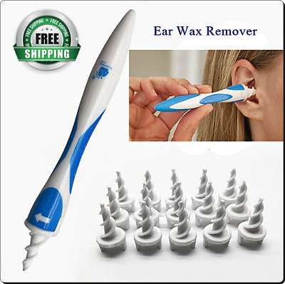 Ear Wax Remover Earwax Cleaner Tool Grip With 16 Spiral Heads Soft Removal Tool