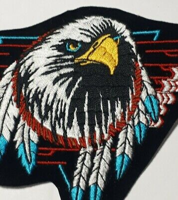 """Indian Biker Tribal Feathers 2-1//4/"""" x 6-1//2/"""" iron on patch A58 3117"""