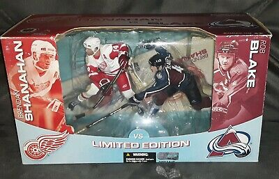 Colorado Avalanche McFarlane Toys NHL Sports Picks Action Figure 2Pack Brendan Shanahan VS Detroit Red Wings Rob Blake