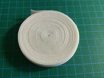 5 Meters Of White 15mm Fold Over Elastic