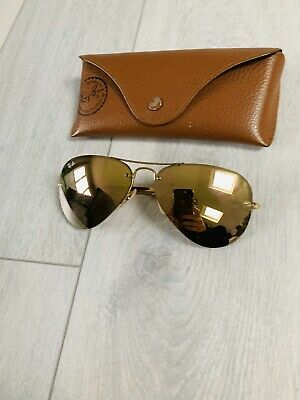 Ray Ban @ John Lewis RB3449 Gold Mirror Lens Aviator Sunglasses RRP £145