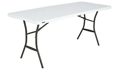 Heavy Duty 6ft White Folding Table - Lifetime - camping party home