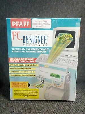 Pfaff Pc Designer Software Version 2 0a With Cord 1 25 Picclick