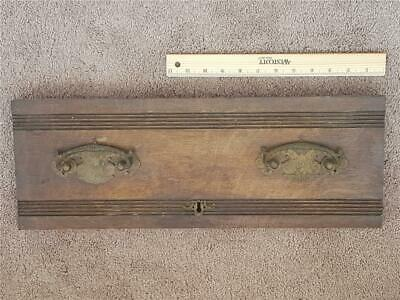 Antique Salvaged Drawer Front Handles Wooden Wood Rustic Keyhole Salvaged Pulls