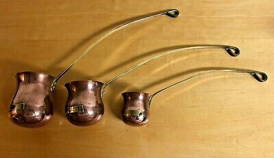 Vintage Copper and Brass Spirit Ladles Whisky Brandy and Rum