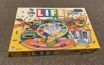 The Game of Life The Simpsons Edition Board Game Kids MB