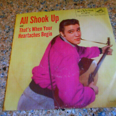 ELVIS PRESLEY All Shook Up on RCA 47-6870 45 With Picture Sleeve