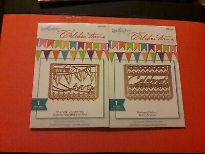 Bundle Two Spellbinders Celebrations Background Die Sets *NEW* Party Celebrate