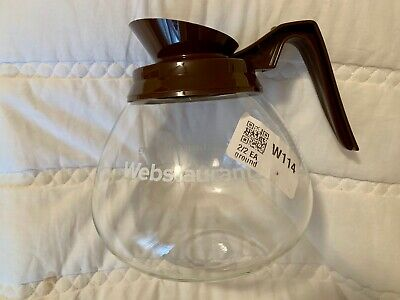NEW Webstaurant Bloomfield Coffee Decanter Brown Top Restaurant Coffee Glass Pot