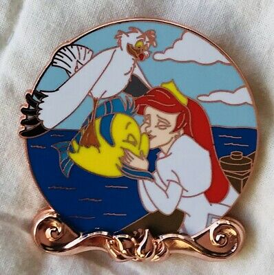 Disney Pin - Little Mermaid 30th Anniversary - Ariel Flounder Scuttle - LE 2000