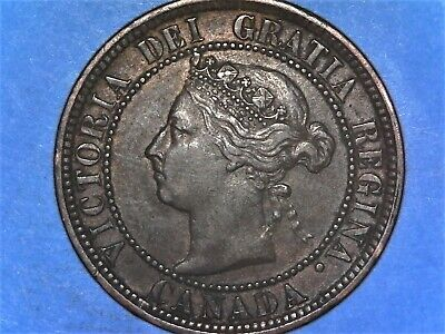 1888 Canadian One Cent -- Large Cent -- Penny -- EF