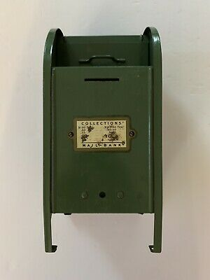 Vintage Pressed Steel United States Post Office Mailbox Mail Box Bank Green