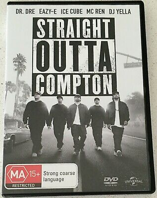 STRAIGHT OUTTA COMPTON DVD Region 4 PAL