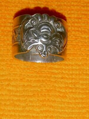 1940 Sterling Silver art deco Chinese Ring sz 6