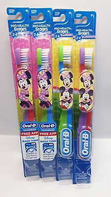 Oral-B Pro Health Stages 2-4 Minnie Mouse - Extra Soft 1 PACK of 2 TOOTHBRUSH