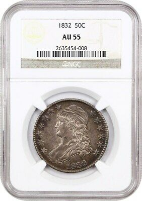 1832 50c NGC AU55 (Small Letters) Bust Half Dollar