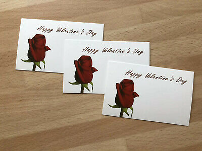 12 Happy Valentines Day Red Rose Gift Card Tag