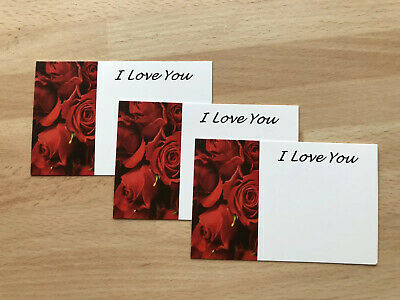 12 Valentines Day Red Roses Gift Card Tag