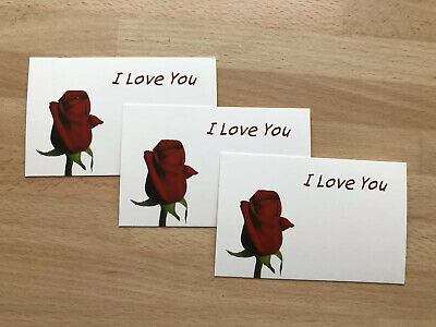 12 Valentines Day Red Rose Gift Card Tag