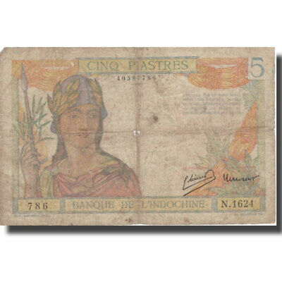 [#801551] Banknote, FRENCH INDO-CHINA, 5 Piastres, Undated (1932-1939), KM:55c