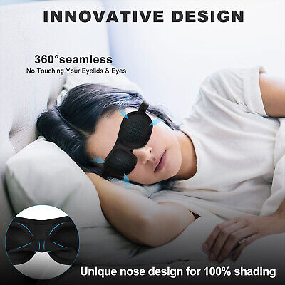 Black Travel Sleeping Rest Relax Eye Face Mask Eyemask Blindfold Patch Mask