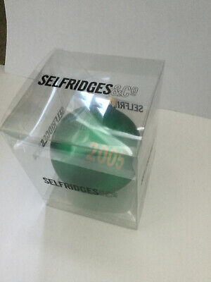 Selfridges annual glass Christmas tree decoration (dated 2005, boxed)