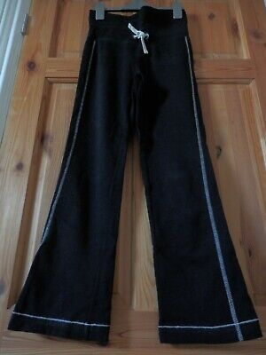 Girls' black joggers/Marks and Spencer/ age 10/ 140cm/ tie-waist/ used