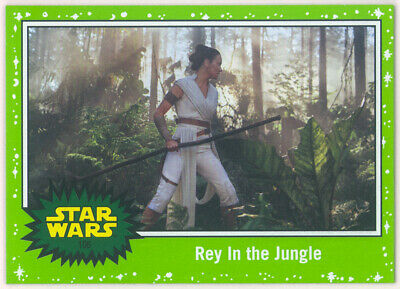 Star Wars JOURNEY TO RISE OF SKYWALKER GREEN STARFIELD CARD #106 REY Topps 2019