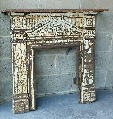 Victorian Cast Iron Fireplace Surround Arts Crafts With Shelf