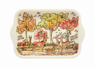 Emma Bridgewater Small Melamine Rectangular Tray-22x14.5cms-Deer In The Woods
