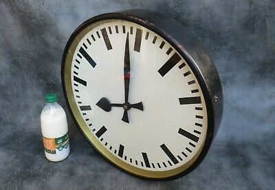 "A GOOD LARGE 17"" SLAVE CLOCK BY CARL THEODOR WAGNER c1960. 24v ALTERNATING DC"
