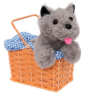 Wicker Basket And Dog Toto Dorothy Prop Accessory World Book Day Fancy Dress