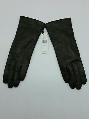 Lord & Taylor Brown Leather Cashmere Lined Ladies Soft Gloves Size 7 Q3b