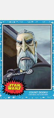 Topps Star Wars Living Set Card Count Dooku #70 Star Wars The Clone Wars