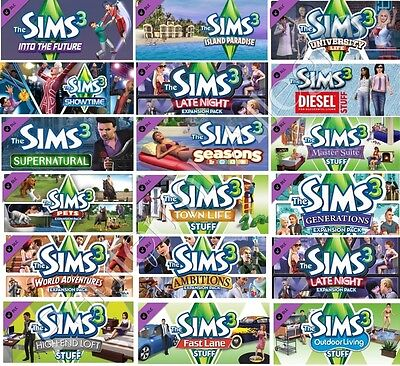 THE SIMS 3 + ALL Expansion Packs Steam PC (FULL GAME) Read the Description !!!!!