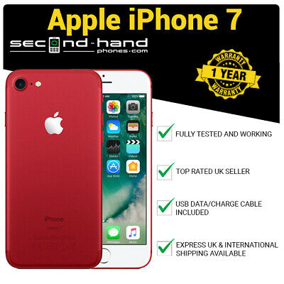 Apple iPhone 7 256Gb Red - Factory Unlocked - Good - 1 Year Warranty