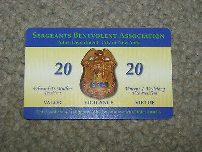 NYPD Collectible New York City Police Department SBA Card 2020 Sergeant