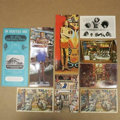 Brochure and Postcards from Ye Olde Curiosity Shop in Seattle Washington