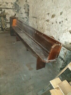 Church Pew Bench Seat Antique pitch pine. No legs or base. 2 available