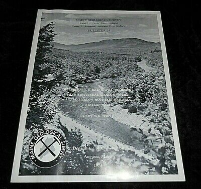 Maine Geological Survey Maps Charts Little Bigelow Mountain Western Maine