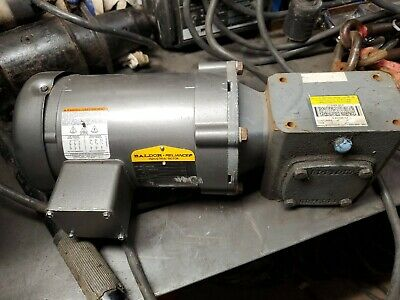 Baldor M3538 Electric Motor .5HP 1725RPM 3PH FR56 with boston gear box.