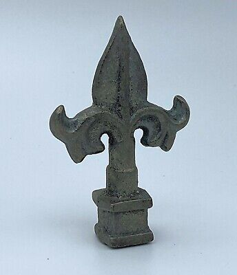 Iron Finial - FLEUR DE LIS STYLE Ornamental - Spear - Fence Topper