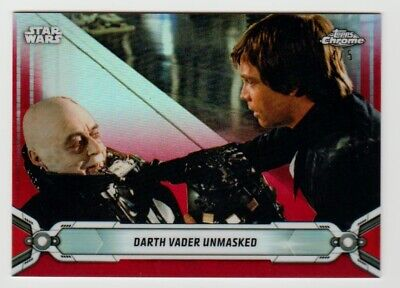 2019 Topps Star Wars Chrome DARTH VADER UNMASKED Red Parallel 4/5 SSP RARE!
