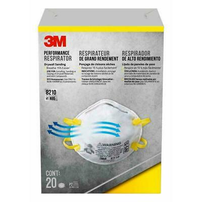 3M 8210 N95 Particulate Respirator Mask, 1- Box Of 20 MASKS * Free US Shipping *