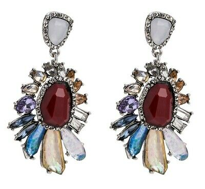 """Exceptional 2.5"""" Inch Dichoric Foiled Resin Statement Earrings!"""